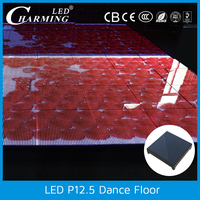 tempered glass led video display dance floor brick for club/disco/wedding/event