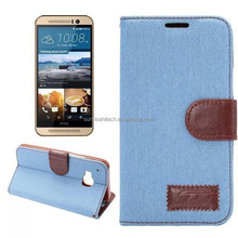 for HTC M9 leather case, cheap leatehr case for mobile phone, flip leather case for HTC M9