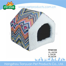 Warm cheap soft fabric purple dog kennel