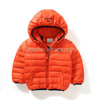 OEM factory price fashion design kids winter coat children winter jacket