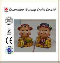 De China tradición resina dios la riqueza estatuilla