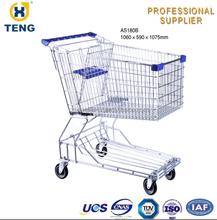 Asian style Supermarket Shopping Trolley/shopping Cart/chromed Hand TrolleyAS180B