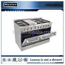 stainless steel LP heavy duty free standing gas range wholesale