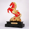 Red/White and Gold plated resin horse figurine
