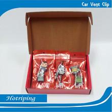 Natural green material gel car vent clip in car freshener(XM)