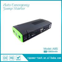138000mah portable high capacity multi-function 12V jump starter for car/motorcycle/laptop /digital product