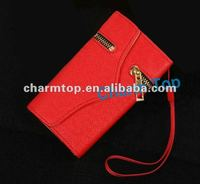 Zipper Pattern Leather Wallet Case For iPhone 5 5G