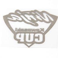 ninijacup серебристая автомобилей металлические наклейки мотоцикл велосипедов велосипед Декаль наклейки размером 60 * 70 мм для украшения