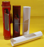 Custom Design Cardboard Packaging Box for Hair Extension with Clear Window
