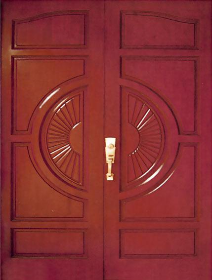 En bois conception de la porte principale bois de teck for Portes principales bois