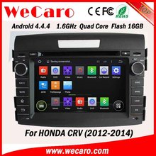 """Wecaro Android 4.4.4 car dvd player 7"""" touch screen for honda crv dvd gps android bluetooth 2012 2013 2014"""