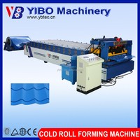 Hydraulic metal roof glazed tile making machine