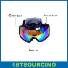 HD 720P Sport Camera Goggles with 2.4G Remote Control / ski goggles camera