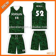 100% polyester cheap fashionable basketball shirt
