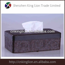 Home & Hotel Brown Faux Leather Facail Tissue Box manufacture