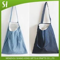 high quality bohemian style Ladies Women jean single Shoulder Bag Dual layer Cotton Tote shopping Bag