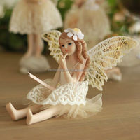 Small resin fairy OEM fairy figure Beauty girl fairy