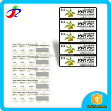 five in one multi-pin scratch off paper calling cards printing