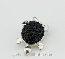 fashion metal tortoise rhinestone decorative buttons for clothing