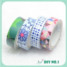 custom printed duct handcraft decoration tape reflective fabric tape
