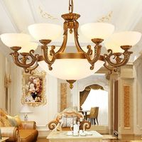 KC619-8+4H Wholesale White Marble Lamp Noble Chandelier