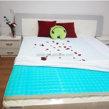 summer use cool gel mattress topper for travel