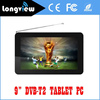 "New wifi dvb-t2 android tablet pc with android 4.4 9"" quad core from factory promotion"