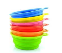 Let the pet happy bowl Collapsible silicone Pet Bowls Dog Bowls