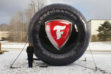 giant high quality inflatable tire for sale, custom inflatable tyre