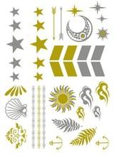 tattoo sticker hot sale arrow jewelry