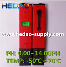 2015 Most Popular ph temp. meter temperature tester digital ph meter tester backlight