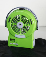 AC/DC RECHARGEABLE MINI MIST FAN WITH USB OUTPUT FOR MOBILE PHONE CHARGER
