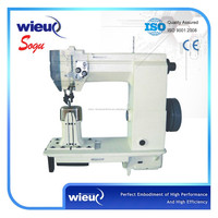 Xs0057 Double Needle Post Bed Lockstitch Shoe Leather Industrial Sewing Machine