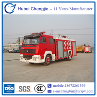 2015 New Design Low Price best fire truck inflatable water slide
