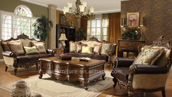Wholesale antique living room furniture french country style sofa set a28 for French style living room furniture