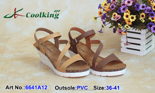 2015 New style fashion famous design Coolking PVC Slippers New design Wholesale women shoes Woman wedge sandals 2015