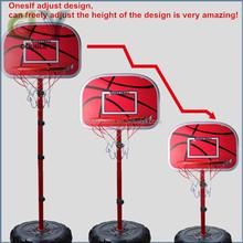 Custom Height Adjustable Portable Basketball System, 52 Inch Shatterproof Backboard children basketball stand