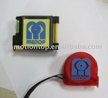 cheap mini fiberglass steel tape measure whith pad and pen