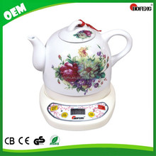 1.2L flower enamal kitchen appliance Ceramic Electric Kettle heat preservation