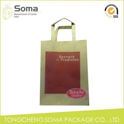 Excellent quality top sell red metallic paper gift bag