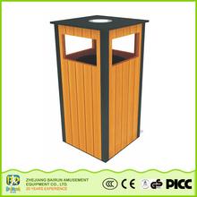Bairun Wooden Street Dustbin Box Direct Buy China Dustbin Making Materials With Ashtray