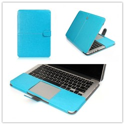 New Arrival PU Leather Flip Protector Cover Case For Macbook Pro Retina 13