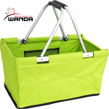 Factory in china cheapest promotional portable cloth shopping basket