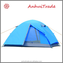 2 person double layer fiberglass pole new folding outdoor tent