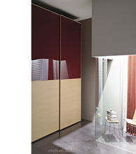 Double color laminated mdf home wardrobe