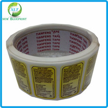 Strong adhesive high quality plastic bag label for product description
