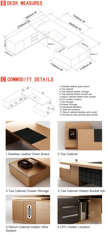 새로운 디자인 MDF 고급 나무 테이블 모듈 형 사무실 가구 현대 ...