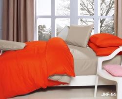Hotel bedsheet beautiful Tangerine Orange and Camel 6 pc Reversible Bed in Bag