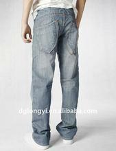 wholesale man's fashion cotton denim jeans pants fabric 2012