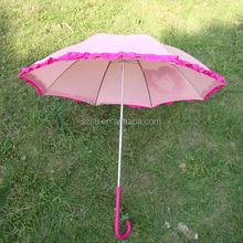 Pretty Promotional Pink Korean Umbrella With Frills
